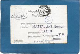 1944 PRIGIONIERI DI GUERRA KRIEGSGEFANGENENPOST LAGER BREMERWORDE PRISONER OF WAR FELDPOST U.S. ARMY P/W EXAMINER - Documenti