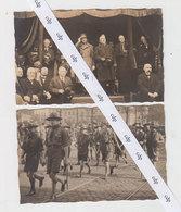 Cartes Photos Défilé Scouts Bruxelles 1930 - Scoutisme