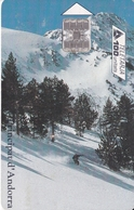 AND-087 TARJETA DE ANDORRA TURISME DE NEU (ESQUI) - Andorra