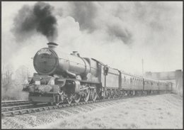 Great Western Railway King Class No 6018 King Henry VI - Steamprint Postcard - Trains