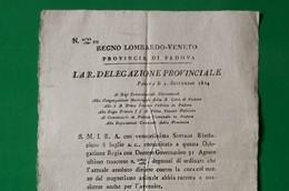 D-IT R. Lombardo Veneto 1824 Padova MEDICINA Cure Con Il MAGNETISMO - Documents Historiques