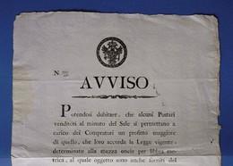 D-IT R. Lombardo Veneto 1816  Venezia - Manifesto Abusi Sulla Vendita Del Sale - Documents Historiques