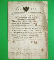 D-IT R. Lombardo Veneto 1801 Venezia Vettovaglie Dicastero All'Oglio -BOLLA DOGANALE - Documents Historiques