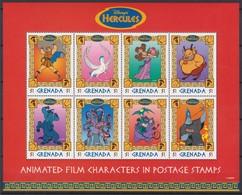 2253   WALT DISNEY  - GRENADA  ( HERCULES  TRIUMPHANT )  Hercules Enfant - Les Muses . - Disney