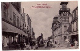 1993 - Paris ( XXe ) - La Rue De Belleville Au Lac Saint-Fargeau - F.Fleury - N°45 - ( Tout Paris ) - Arrondissement: 20