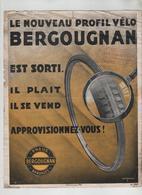 Affichette Profil Bergougnan Pneus Bandages Grenoble - Cyclisme