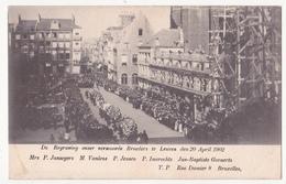Leuven: De Begraving Onzer Vermoorde Broeders,socialisten  Die Opkwamen Voor Enkelvoudig Stemrecht, 1902. - Leuven