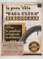 Affichette  Pneu Vélo  Bergougnan Pneus  Grenoble - Cyclisme