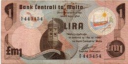MALTA 1 LIRA-POUND-1979  P-34 - Malte