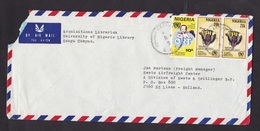 Nigeria: Airmail Cover To Netherlands, 1988, 3 Stamps, Children Health, Immunisation, Vaccination, UNICEF (damaged) - Nigeria (1961-...)