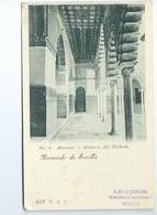 Alcazar Galeria Del Tributo 4 Recuerdo De Sevilla Carte Precurseur - Sevilla