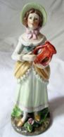 Frau Mit Lyra Zierfigur Deko - Ceramics & Pottery
