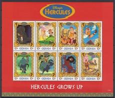 2255   WALT DISNEY  - GRENADA  ( HERCULES  TRIUMPHANT )   Hercules Against The Hydra - Head In Flames Of Hades  . - Disney