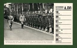 D-IT PNF #C-pagina Calendario 1938 Mussolini E Hitler A Monaco Di Baviera - Documents Historiques