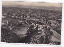 07 VOGUE Vue Aérienne Le Viaduc Et La Ville ,tampon Vogue Sur 2 Timbres Pont Valentré Cahors - Autres Communes