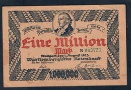 GERMANIA ALEMANIA GERMANY Notgeld Stuttgart 1000000 Mark 1923 Lotto 045 - [ 3] 1918-1933 : República De Weimar