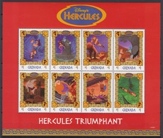 2256   WALT DISNEY  - GRENADA  ( HERCULES  TRIUMPHANT )  Zeus End Hercules Grabbing The Wind Titan - Hercules Dan Air - Disney