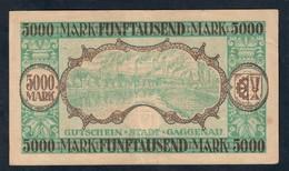 GERMANIA ALEMANIA GERMANY Notgeld Gaggenau 5000 Mark 1922 Lotto 073 - [ 3] 1918-1933 : República De Weimar