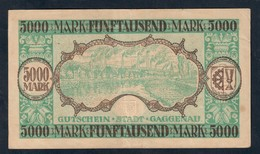 GERMANIA ALEMANIA GERMANY Notgeld Gaggenau 5000 Mark 1922 Lotto 073 - [ 3] 1918-1933 : Repubblica  Di Weimar