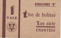 VALE DE 1 TIRO DE BOLITAS DE ATRACCIONES R - LOS SIETE ENANITOS - Tickets - Entradas