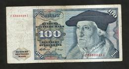 DEUTSCHLAND - DEUTSCHE BUNDESBANK - 100 MARK (Frankfurt Am Main 1960) - [ 7] 1949-… : RFA - Rep. Fed. Tedesca