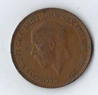 Monnaie 1929 Grande Bretagne Great Britain ONE PENNY GEORGE V - 1902-1971 :  Post-Victoriaanse Muntstukken