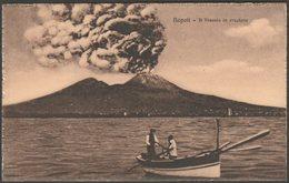 Il Vesuvio In Eruzione, Napoli, Campania, C.1910s - Zedda Cartolina - Napoli (Naples)