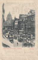 AK  - London - Fleet Street And St. Pauls. Cathedral - 1901 - Ohne Zuordnung