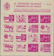 Ref. 575818 * NEW *  - SPAIN Vignettes . 1958. IX EXPOSICION FILATELICA Y NUMISMATICA DE GRACIA - Variétés & Curiosités