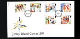 1997 - Great Britain-Jersey FDC - Sport - Jersey Island Games [B01_043] - Jersey