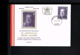1973 - Austria FDC/Cover - Famous People - Nobel Prize Winners - Otto Loewi [CC073] - FDC