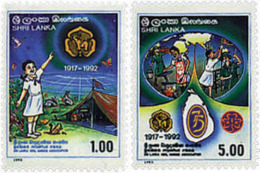 Ref. 41385 * NEW *  - SRI LANKA . 1993. 75th ANNIVERSARY OF THE GIRL GUIDES. 75 ANIVERSARIO DEL ESCULTISMO FEMENINO - Sri Lanka (Ceylon) (1948-...)