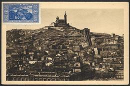 Carte  Maximum  - Marseille  - Notre Dame De La Garde ( Taxée) - Cartes-Maximum