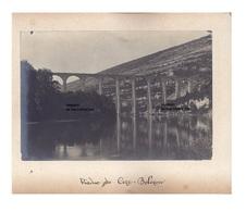 2 Originales Photos C 1900 Viaduc De Cize Bolozon  - Serrieres - Auvergne - Places