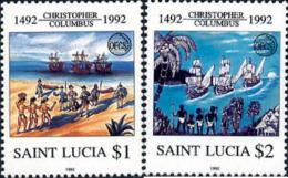 Ref. 174271 * NEW *  - ST. LUCIA . 1992. 500th ANNIVERSARY OF AMERICA  DISCOVERY. 500 ANIVERSARIO DEL DESCUBRIMIENTO DE  - St.Lucia (1979-...)