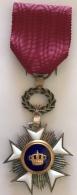 Médaille - Décoration Civique Belge. Chevalier De L'ordre De La Couronne - Militaria