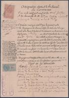 I.Martin à Saint-Thibéry Contre Compagnie Des Chemins De Fer Du Midi.Timbre Fiscal Copies 50c&2/10.Dimension 50c&2/10. - Manuscripts