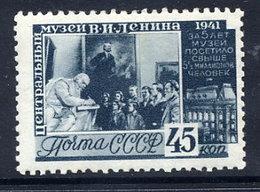 SOVIET UNION 1941 Lenin Museum 45 K. Perf. 12:12½. LHM  / *. .  Michel 823C - 1923-1991 USSR