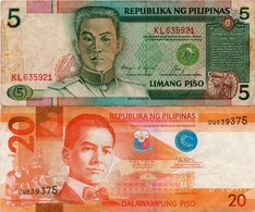 FILIPPINE 5,20 PISO 1992,2010 P-168,206 - Filippine