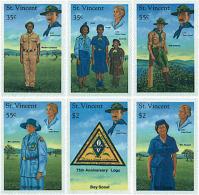 Ref. 68079 * NEW *  - ST. VINCENT . 1989. ANNIVERSARIES OF THE SCOUTS MOVEMENT. ANIVERSARIOS DEL ESCULTISMO - St.Vincent (1979-...)