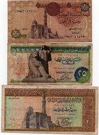 EGITTO-LOTTO 3 BANCONOTE - Egitto