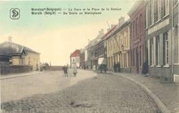 Wervicq La Gare Wervik De Statie En Statieplaats Color Animee Cafe & Billard A Droite 25.7.1916 Artillerie Grande Guerre - Wervik