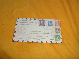 ENVELOPPE UNIQUEMENT DE 1953. / QUEBEC CANADA A EVREUX FRANCE. / PREMIER JOUR. / SERIE REINE ELIZAB CACHETS + TIMBRES X5 - 1952-.... Elizabeth II