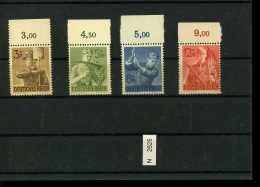 Deutsches Reich, 650 - 653, Xx, Vom Bogenrand Oben - Allemagne