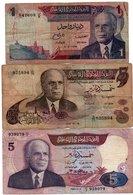 LOTTO TUNISIA 1,5 DINARS 1972,73,83- P-67,71,79 - Tunisia
