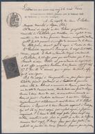 L.Patau à Sigean, Contre M.Cabanes à L'Halibarda  Près Ouveillan.Timbre Fiscal Copies 50c&2/10. - Manuscripts