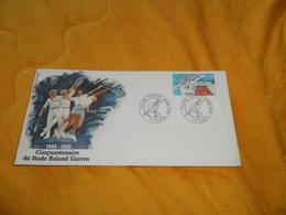ENVELOPPE FDC DE 1978. / CINQUANTENAIRE DU STADE ROLAND GARROS. / CACHETS + TIMBRE. - 1970-1979
