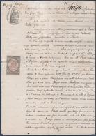 A.Cancel, Curé à Poilhes, Contre V.Soulignac à Fontès.Timbre Fiscal Copies 50 & Deux Dizième. - Manuscripts