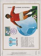 FDC CEF MONACO 1978 ARGENTINA 78 - Coupe Du Monde
