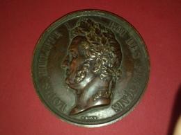 GROSSE ET RARE MÉDAILLE BRONZE LOUIS PHILIPPE I GISORS LOI DU 24 MARS 1841 Graveur A.BOVY  Dia.68 Mm  Gr Non Nettoyée - Royal / Of Nobility